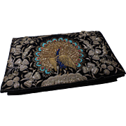 Vintage Metal Embroidery Peacock Clutch Purse Handbag