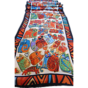 Laurel Burch Long Silk Scarf - Cats