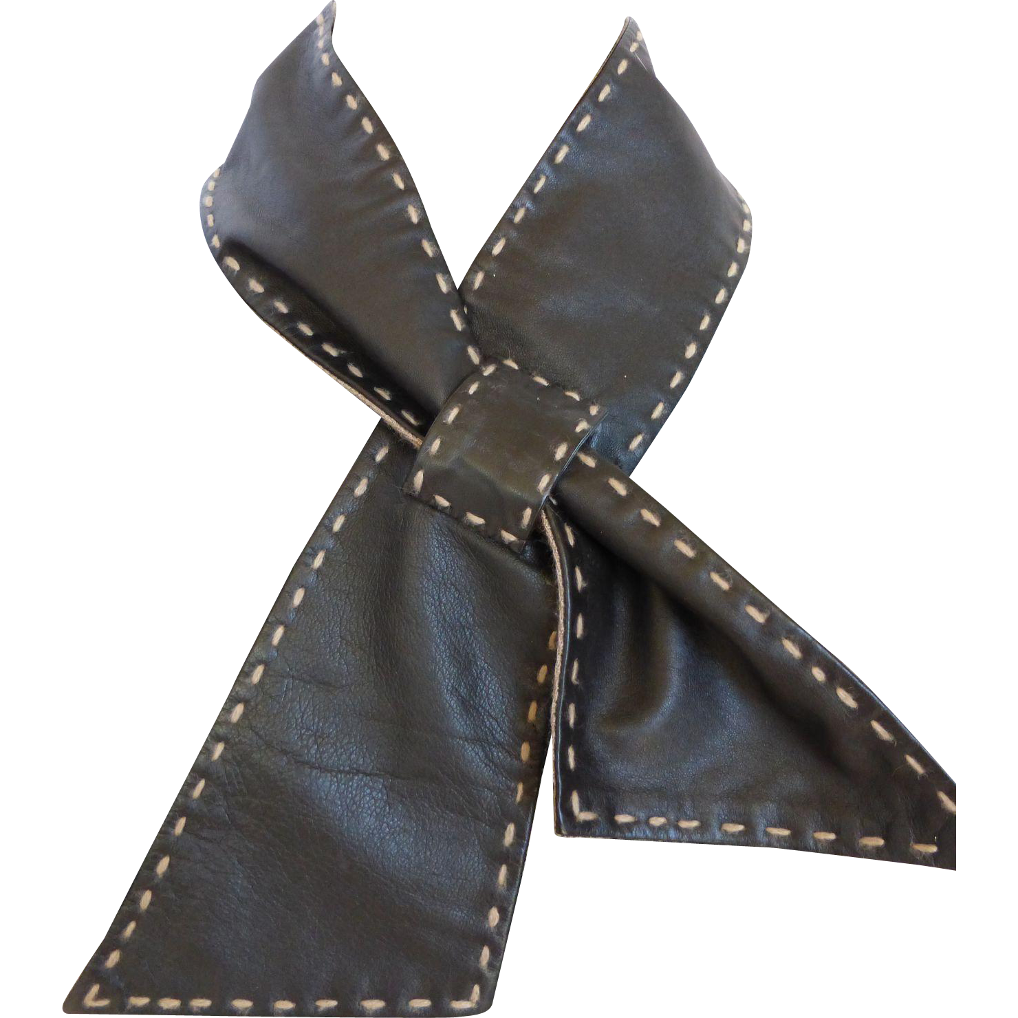 bajra leather pashmina wrap around neck scarf from