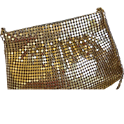 Vintage Gold Tone Metal Mesh Purse