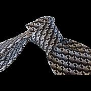 Vintage Pierre Cardin Escher Inspired Silk Necktie