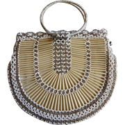 Vintage Beaded Purse Made in Czechoslovakia Ring Handles
