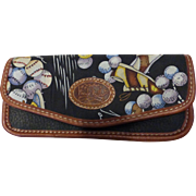 Vintage Nicole Miller Eyeglass Case Novelty Sports Print