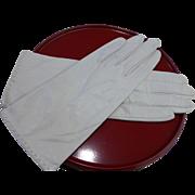 Vintage White Kidskin Leather Gloves Size 7 Unused