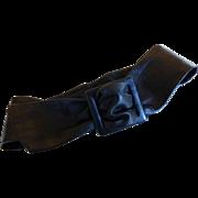 Vintage Wide Soft Black Leather Belt