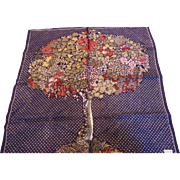 Vintage Echo Silk Tree of Flowers & Fruit Scarf
