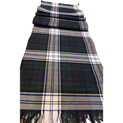 Vintage Celtic Tartan Plaid Wool Scarf Gaelic College, Nova Scotia