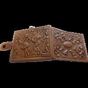 Vintage Tooled Leather Wallet MINT