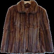 C&A905 Luxurious Mink Fur Swing Cape Opera Jacket