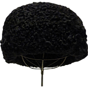 Genuine Black Persian Lamb Hat
