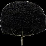 Genuine Black Persian Lamb Hat