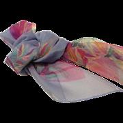 Vintage Cacharel Silk Chiffon Scarf