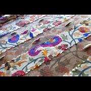 Hand Woven Silk Screen Raw Silk Scarf Shawl France