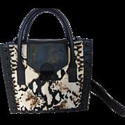 Loeffler Randall Calf Hide Animal Print Satchel Bag