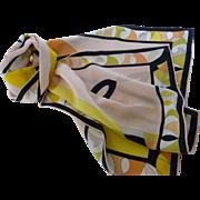 Vintage Emilio Pucci Long Silk Scarf