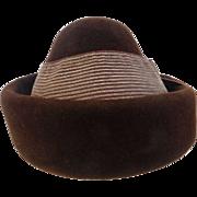 Vintage Filbert Orcel Paris Fur Felt Hat for Miller's of Knoxville