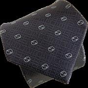 Authentic Gucci Double-G Silk Tie