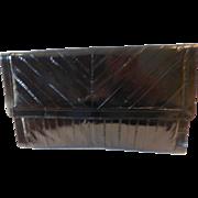 Vintage Black Eel Skin Clutch Purse