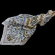 Vintage Metropolitan Museum of Art Scarf Silk