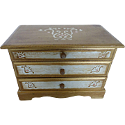 Musical Florentine Style Musical Jewelry Chest Box