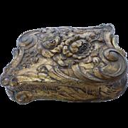 Vintage Gilded Plaster Nouveau Styled Jewelry Keepsake Box