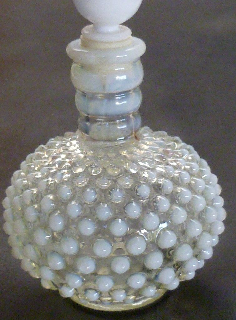 Vintage Opalescent Hobnail Perfume Bottle From Historique