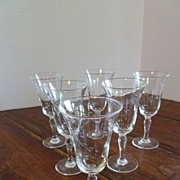 Vintage Cut Crystal Cordials Set of Six