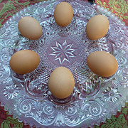 Vintage Duncan & Miller Elegant Glass Deviled Egg Plate