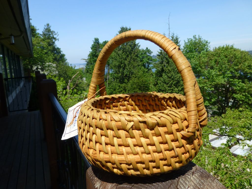 Basket Weaving Of Ifugao : Vintage ifugao split laptong rattan basket philippines