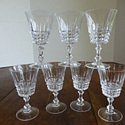 Crystal Wine Goblets Set of 7