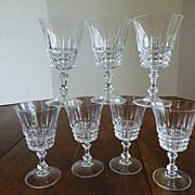 Crystal Wine Goblets Set of 7