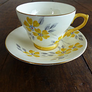 Sutherland Bone China Cup & Saucer Daisies England