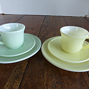 Vintage Hazel Atlas Little Hostess Children's Dishes 1940's