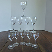 Vintage Peill Blown Crystal Cordials Set of 10 Germany