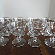 Libbey Rock Sharpe Stardust Champagne Cocktail Glasses Set of 8