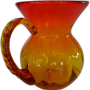 Blenko Hand Blown Amberina Pitcher