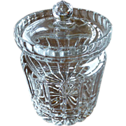 Vintage Irish Lead Crystal Biscuit Barrel Jar