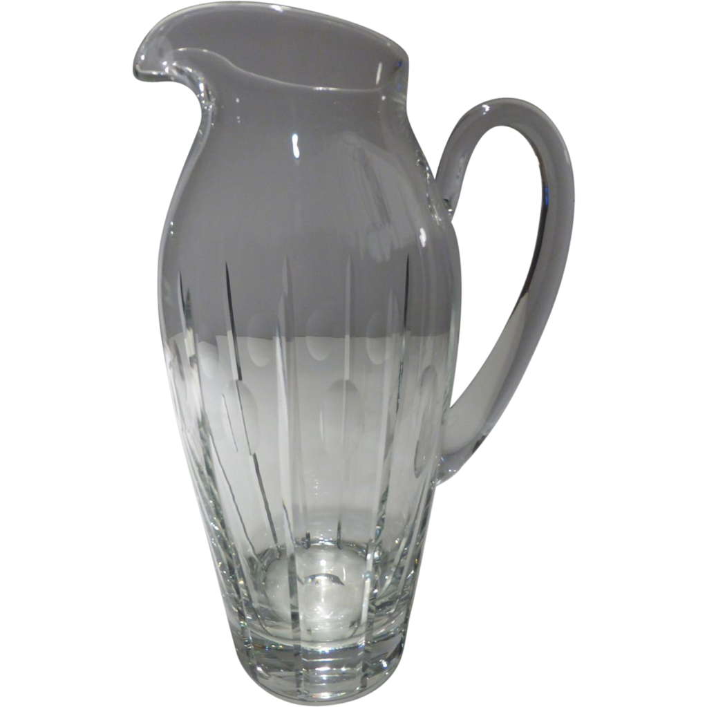Beautiful block clear crystal pitcher 11 signed historique beautiful block clear crystal pitcher 11 signed historique ruby lane reviewsmspy
