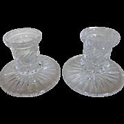 Vintage Cut Lead Crystal Candlesticks Candle Holders