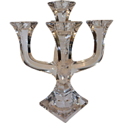 Towle Five Arm Lead Crystal Candelabra Austria