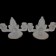 Fostoria Glass Navarre Flame Double Candlestick Holder