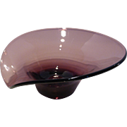 Mid-Century Amethyst Glass Bowl Dish – Made in Italy