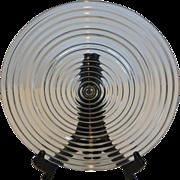 "Anchor Hocking Manhattan Crystal 10"" Dinner Plate"