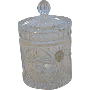 Lead Crystal Jar Pot with Lid