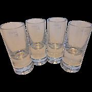 Atlantis Lead Crystal Vodka Glasses Set of 4