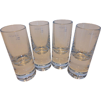 Atlantis Lead Crystal Vodka Glasses Set of 4