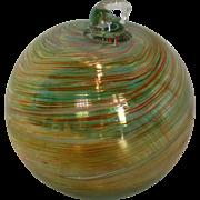 Mt. St. Helens Volcanic Ash Hand Blown Art Glass Ornament – 3.5''
