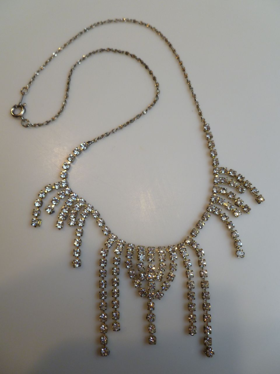 Vintage rhinestone chandelier necklace korea from for Sell gold jewelry seattle