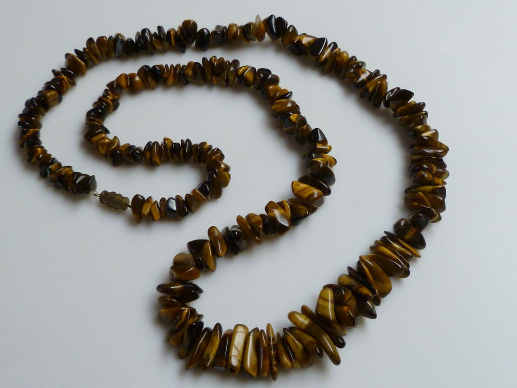 Vintage Tiger S Eye Stone Necklace Sold On Ruby Lane