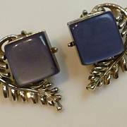 Vintage Coro Thermoset Lucite Earrings